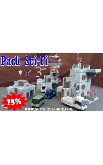 Pack SciFi Molds 101, 102, 103