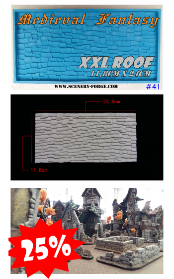 Mold 41XXL Roof Medieval...
